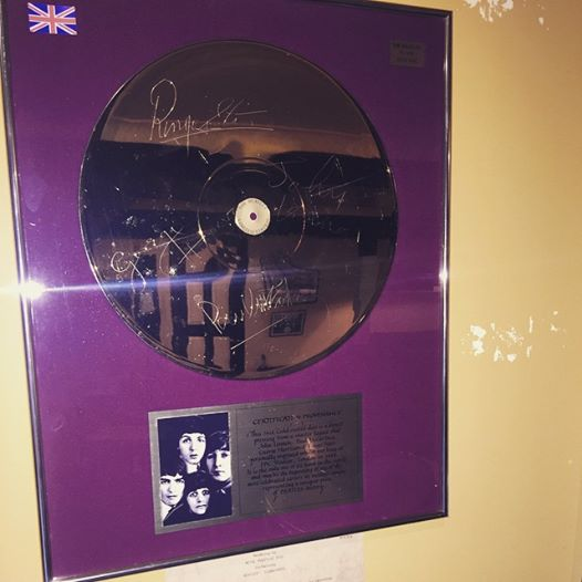 Wow! I Can't Believe I Found This At Mike's Studio! Beatles Gold Disc, Signed!!